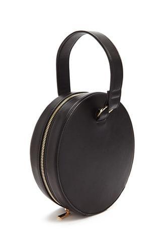 Forever 21 Round Structured Handbag Black