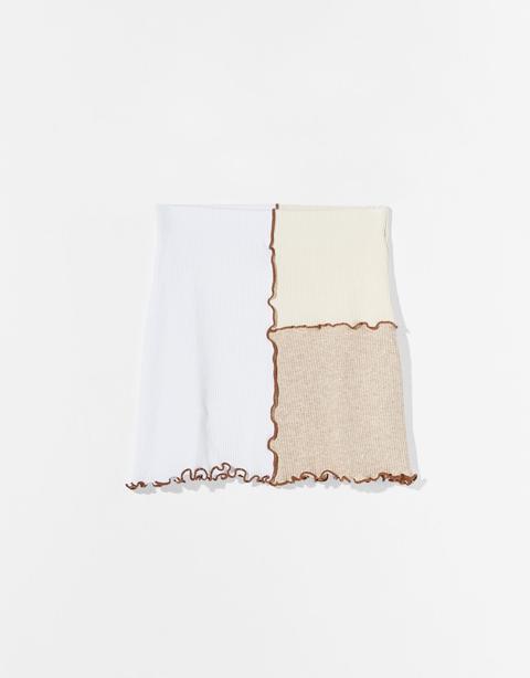 Falda Mini Contraste Bicolor