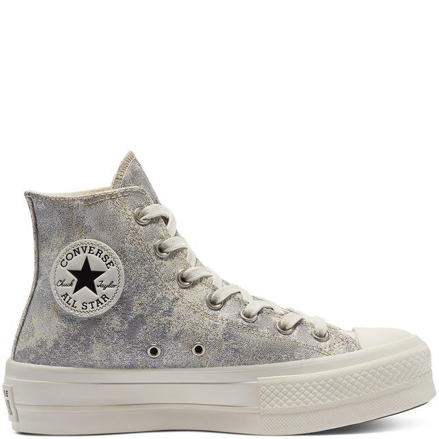 Converse Elevated Metallic Platform Chuck Taylor All Star High Top ...