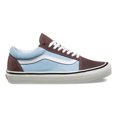 vans old skool blue and brown