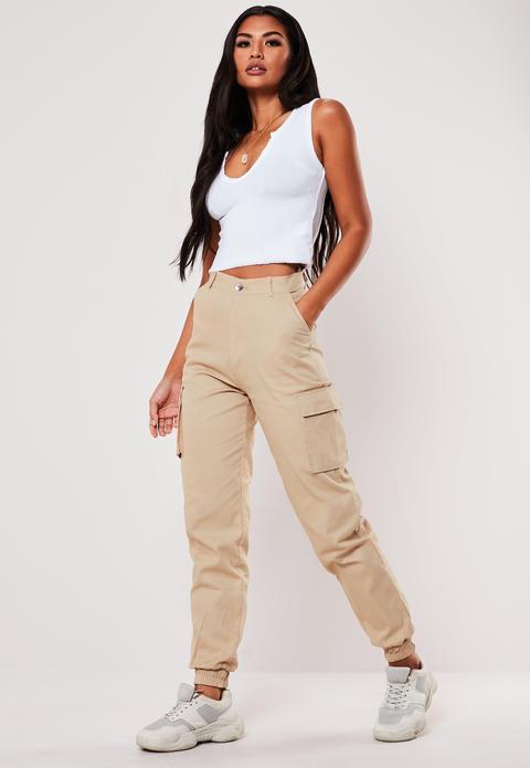 Sable Pantalon Cargo Beige