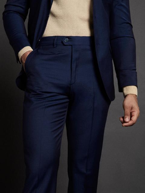 Pantalon Traje Classic Azul Claro