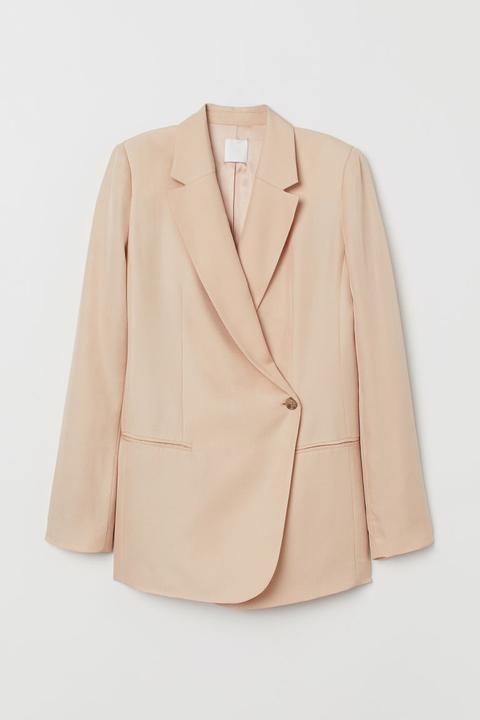 Americana En Mezcla De Seda - Naranja de H&M en 21 Buttons