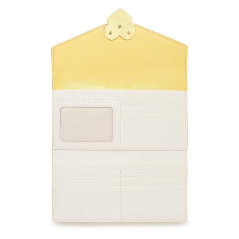 Billetera Solapa Piel Amarilla