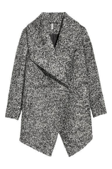 On Sweater Romwe Langarm From 21 Revers Grau Mantel Buttons n0OPwk