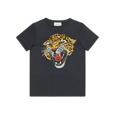 Camiseta Infantil Con Leopardo de Gucci en 21 Buttons