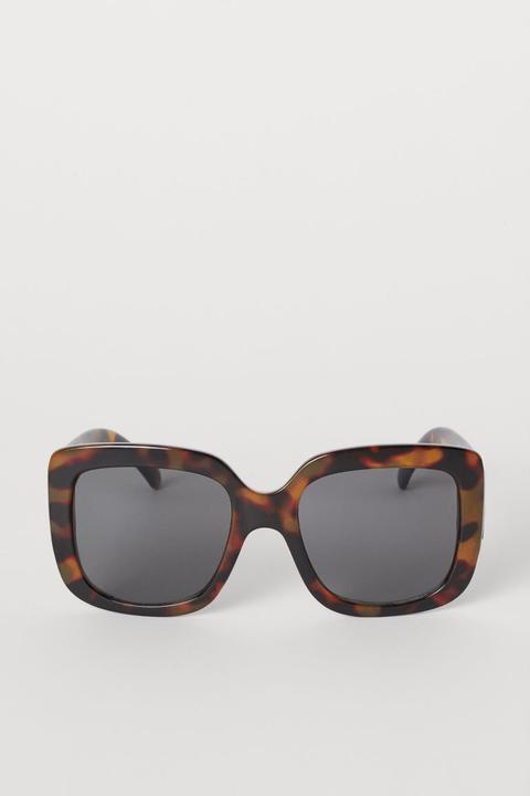 H & M - Gafas De Sol Cuadradas - Marrón