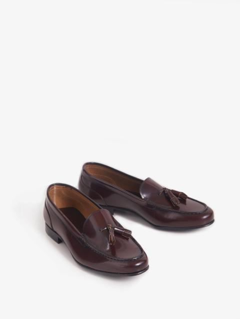 Zapato Borlas Piel Burdeos de Silbon en 21 Buttons