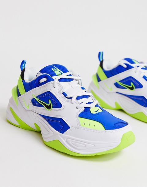 Zapatillas De Deporte En Azul Y Blanco M2k Tekno De Nike de ASOS en 21 Buttons