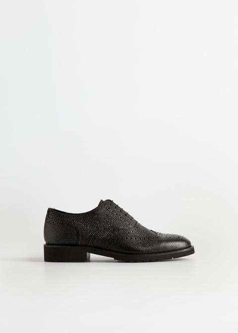 Zapato Blucher Piel Troquelados Ligero de Mango en 21 Buttons