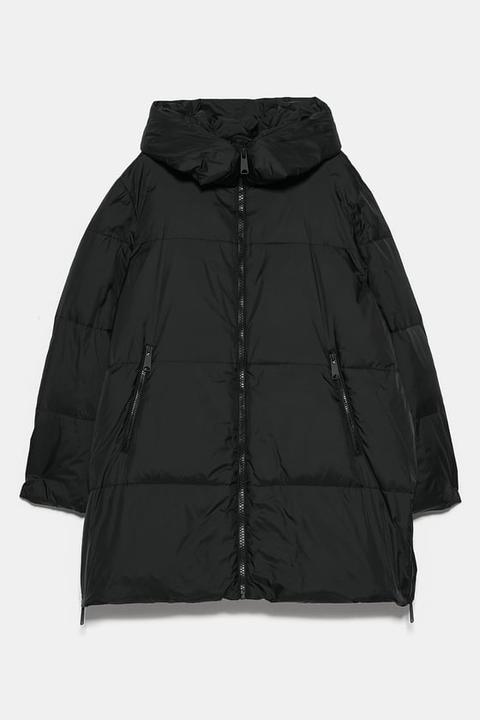 Abrigo Acolchado Oversize de Zara en 21 Buttons