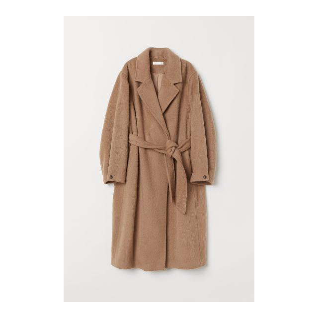 Damen Mantel Buttons From Aus Wollmix On H amp;m Langer 21 Beige uFJc3TK1l