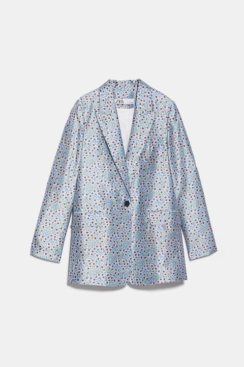 Blazer Flores de Zara en 21 Buttons