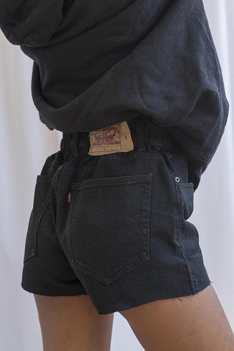Short Levi's Vintage Authentic Black Oversized
