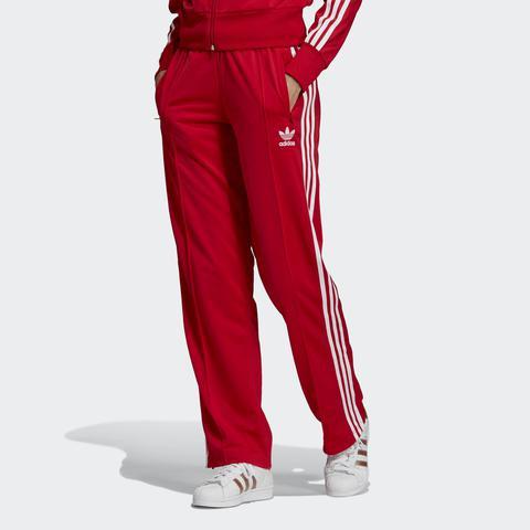 adidas firebird pants rosso