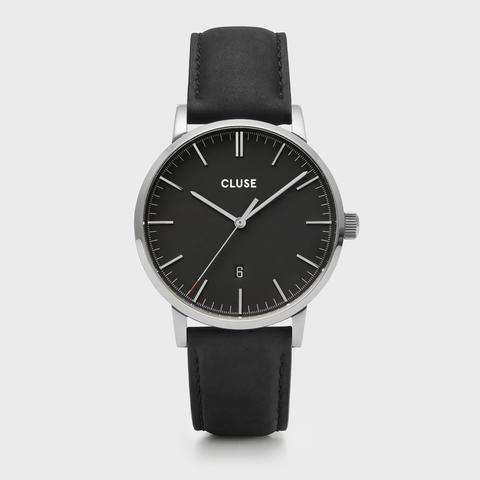 Aravis Leather Silver Black/black de Cluse en 21 Buttons