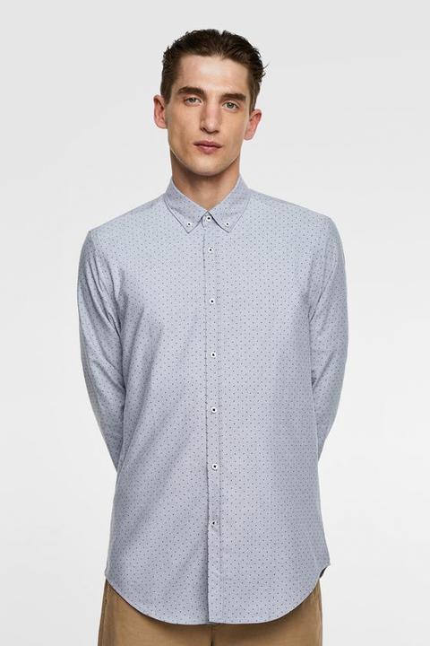 l'atteggiamento migliore 66eb0 391a2 Camicia Oxford Stampa A Pois from Zara on 21 Buttons