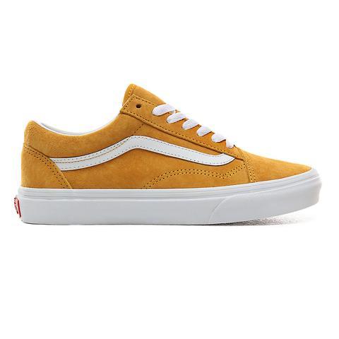 Vans Zapatillas Old Skool De Ante De Cerdo ((pig Suede) Mango Mojito/true White) Mujer Amarillo de Vans en 21 Buttons