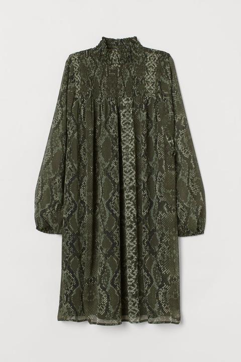Robe Smockée - Noir