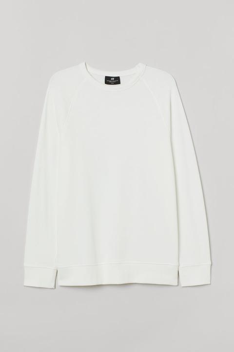 Sudadera Regular Fit - Blanco