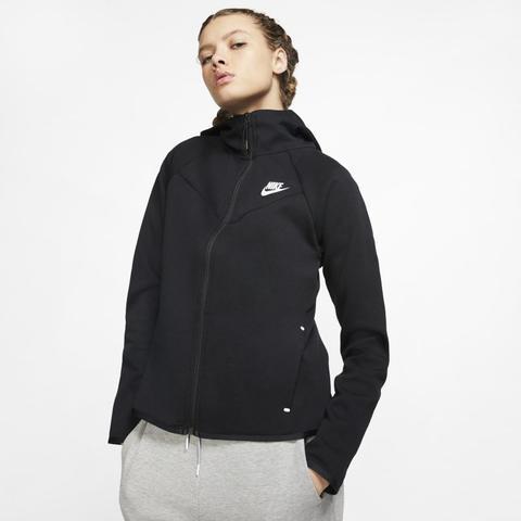Nike Sportswear Windrunner Tech Fleece Sudadera Con Capucha Y Cremallera Completa - Mujer - Negro de Nike en 21 Buttons