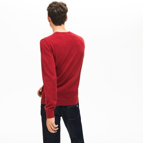 Jersey De Hombre Con Efecto De Punto En Algodón Texturizado Y Cuello Redondo