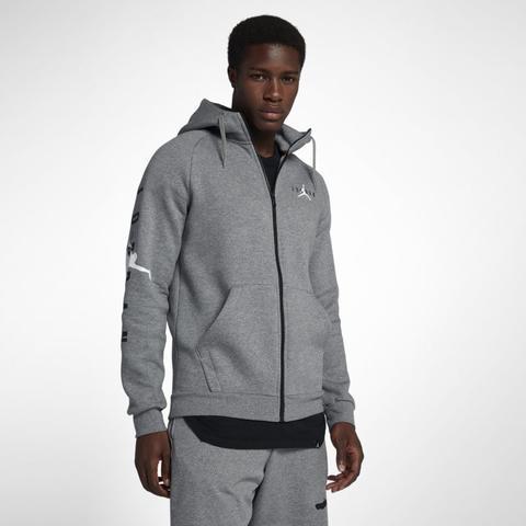 Jordan Jumpman Air Fleece hoodie Mit Durchgehendem Reißverschluss Für Herren Grau from Nike on 21 Buttons