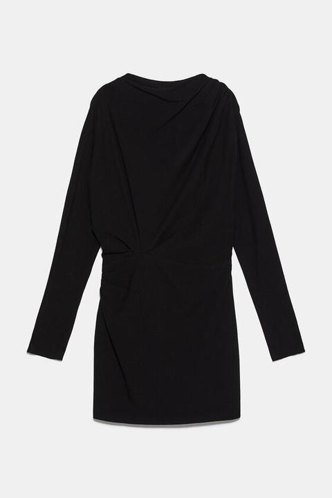 Vestido Drapeado de Zara en 21 Buttons