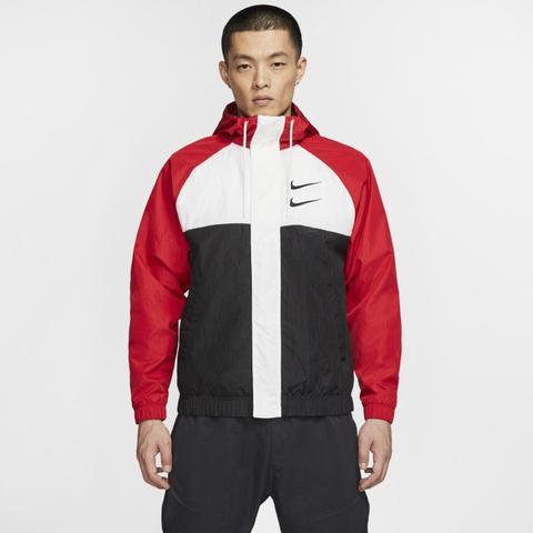 Nike Sportswear Swoosh Chaqueta Con Capucha De Tejido Woven - Hombre - Rojo de Nike en 21 Buttons