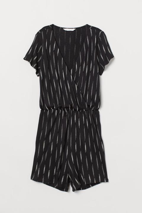 Jersey Playsuit - Black