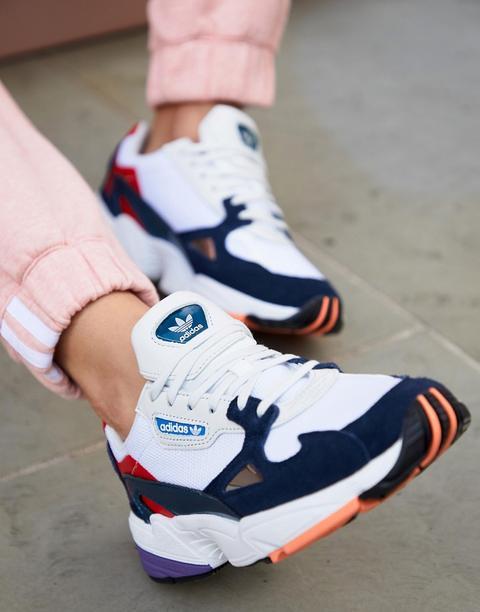Zapatillas De Deporte En Blanco Y Azul Marino Falcon De Adidas Originals
