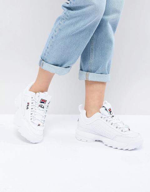 Zapatillas De Deporte Blancas Disruptor De Fila-blanco de ASOS en 21 Buttons