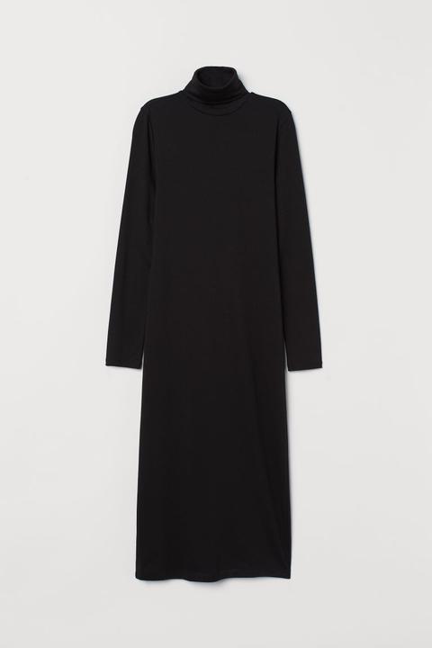 neue Fotos populäres Design achten Sie auf Jerseykleid Mit Rollkragen - Schwarz - Damen from H&M on 21 Buttons
