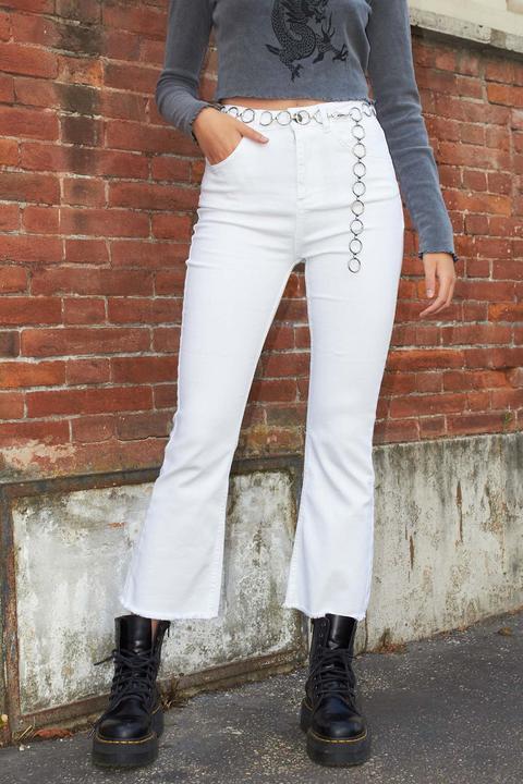 Pantalones Cropped Flare de SUBDUED en 21 Buttons