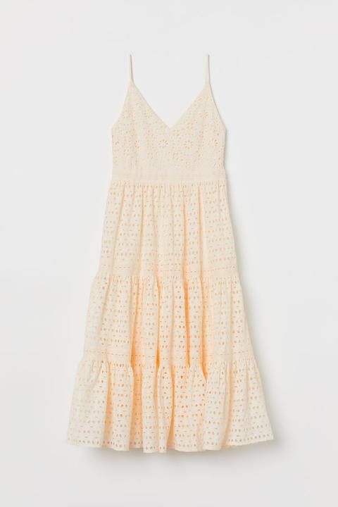 Vestido En Bordado Inglés - Blanco de H&M en 21 Buttons