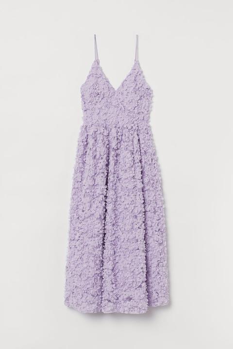 Vestido Con Aplicaciones - Púrpura de H&M en 21 Buttons