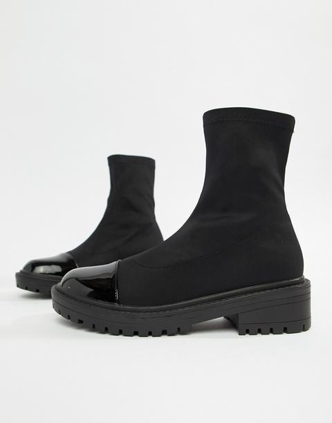 Raid Sense Black Chunky Sock Boots