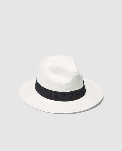 Panamania - Sombrero De Mujer Clásico Panamanía En Blanco de El Corte Ingles en 21 Buttons