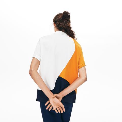 Polo De Mujer Lacoste En Piqué Termorregulador Color Block