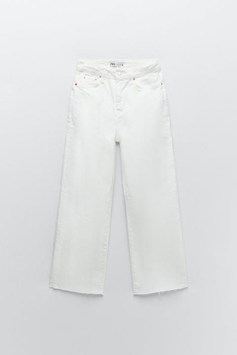 Jeans Zw Premium Culotte White