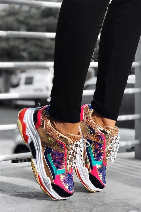 Fashion Nova Take It And Run Sneaker – Multi