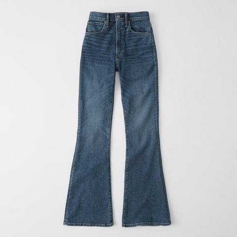 Jeans Acampanados De Tiro Muy Alto