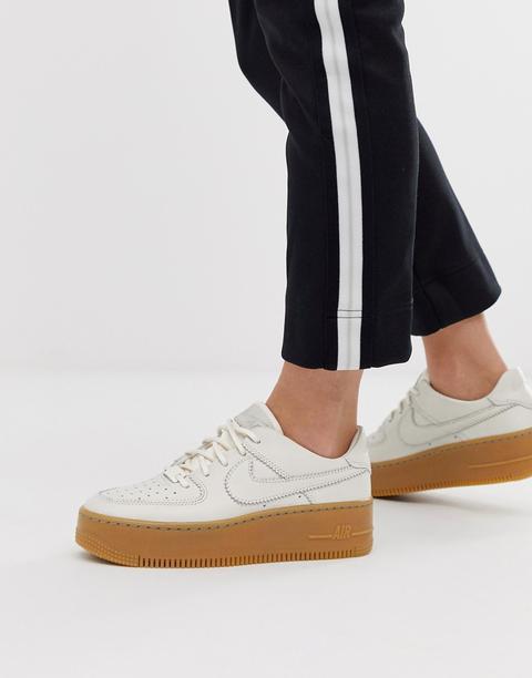 Nike Ivory Gum Sole Air Force 1 Sage