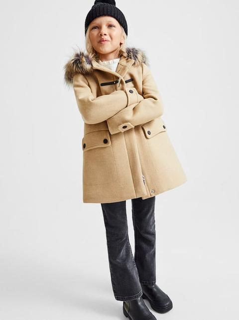 Trenka Lana Alamar Contraste de Zara en 21 Buttons