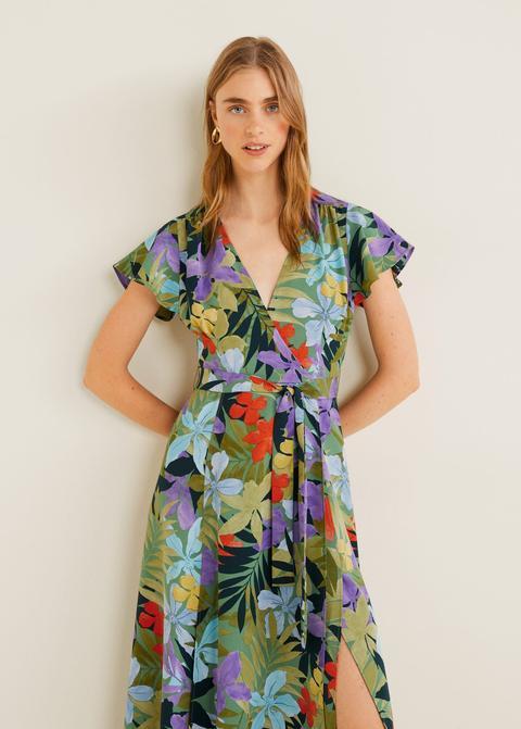 Vestido Cruzado Tropical