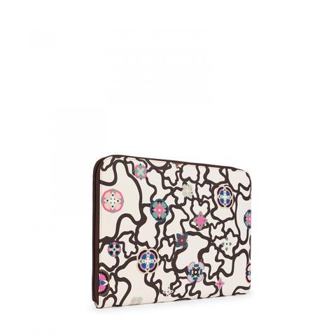 Portadocumentos Kaos Mossaic De Lona En Color Beige