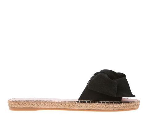 Flat Sandals With Bow - Hamptons - Black de Manebi en 21 Buttons