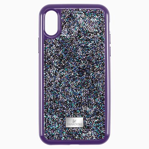 Funda Para Smartphone Con Protección Rígida Glam Rock, Iphone® Xs Max, Violeta de Swarovski en 21 Buttons