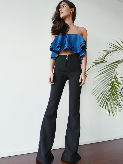 Pantalones Negros De Campana de KAOA en 21 Buttons