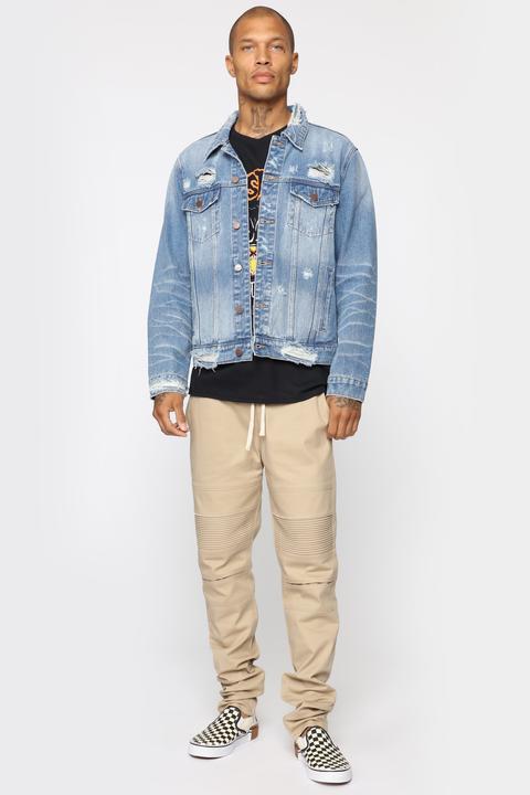 ad54ea398 Chad Denim Jacket - Light Wash from Fashion Nova on 21 Buttons